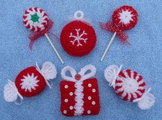 Whiskers & Wool: Peppermint Parade Christmas Ornaments - New Pattern in Etsy Shop
