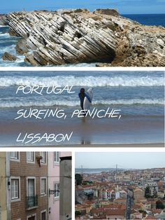 Camping and surfing in Peniche and a weekend in Lisbon, relaxed travel in Portugal. You can reach Peniche and Baleal by bus bus from Lisbon. Camping and hostels are affordable. :)