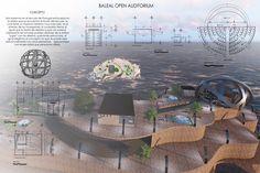 Lamina de proyecto de Baleal Open Auditórium
