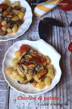 Ricetta Chicche di patate con Molluschi | Sugo con cozze e vongole | Primo piatto pesce | Primi di pesce | Ricetta vigilia Natale | ricetta vigilia | Ricetta estiva | ricetta di mare