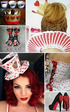 Alice in Wonderland Costumes and DIY Ideas. The world of Alice in Wonderland is, while a little strange and twisted, incredibly fun to recreate. Alice herself is a beautiful character that no girl or woman minds dressing up as for convention… Casino Costumes, Diy Costumes, Cosplay Costumes, Zombie Costumes, Homemade Costumes, Cosplay Diy, Family Costumes, Group Costumes, Halloween Make