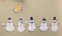"""Adventures in Storytime: Flannel Friday: """"Five Little Snowmen"""" Sequencing Activities, Preschool Literacy, Pete The Cats, Art Lessons Elementary, Elementary Teacher, Winter Songs, Felt Stories, Flannel Friday, Finger Plays"""