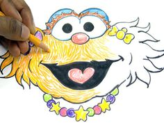 how to draw zoe behind the scenes the show parents sesame street