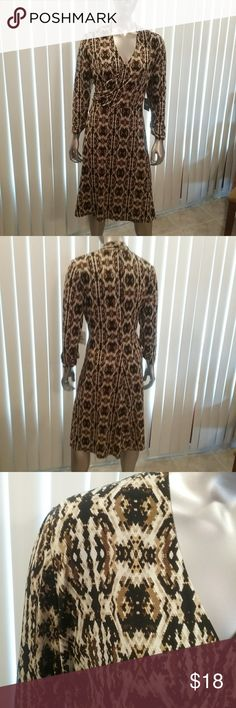 "NWT Large ""Patchwork Perfect"" Dress Final Price This dress color is called light tawny, but it is different shades of browns and black.  This is a final price item but you can still save 15%when you bundle. Rafaella Dresses"