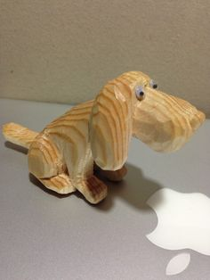 Woodcarving dog  pine Flandes 3