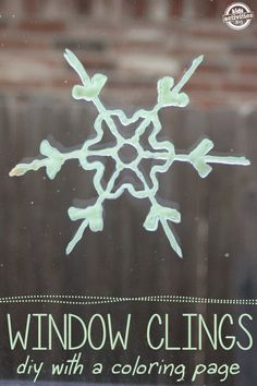 Oh fun!  Snowflake Coloring Pages to Make Glow-in-the-Dark Window Clings