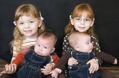 ¡Dos pares de gemelos! ¿Me podría pasar a mí?