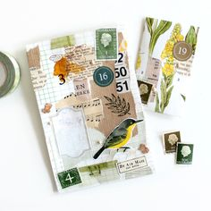 Pen Pal Letters, Paper Letters, Mail Art Envelopes, Journal Design, Journal Stickers, Vintage Ephemera, Journal Notebook, Journal Inspiration, Mini Albums