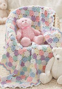 Tiny Snowflakes Baby Blanket Crochet Pattern