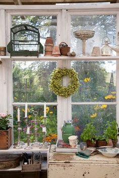 ...and inside a charming potting shed...