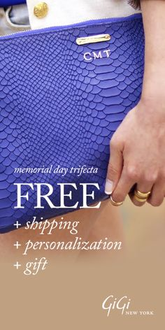 Free shipping, free personalization, and free gift!  Love GiGi New York! http://rstyle.me/n/kmt9nnyg6 for bridesmaids