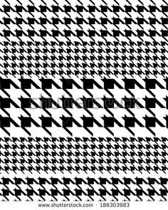 Pied de poule patterned and striped patterned fabric design. Textile Design, Fabric Design, Pattern Design, Print Design, Fabric Patterns, Print Patterns, Pattern Illustration, Geometric Designs, White Patterns