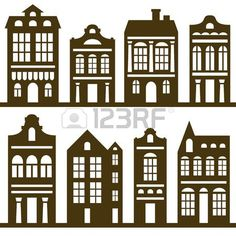 26801953-vector-houses-silhouette-set.jpg (450×450)