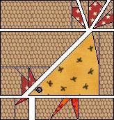 Silly Chicken paper piecing quilt pattern