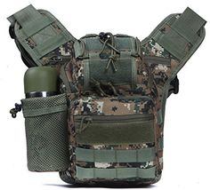 Horizon Mens 16L Adjustable Capacity Outdoor Sports Bag Military Tactical Large Waterproof Molle Backpack Hiking Camping Trekking Gym Bags Camouflage >>> Continue to the product at the image link.Note:It is affiliate link to Amazon.