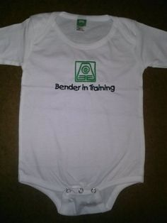 "Legend of Korra Avatar Inspired Air, Water, Earth, Fire Bender-choice baby ""Bender in Training"" on Etsy, $12.00"