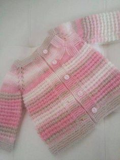 This Pin was discovered by ВикThere is not much information about this baby girl. But if you want, you can do this for your baby by examining the picture. I am so impressed with the Turkish knitters! The beginning of my knitting Baby Knitting Patterns, Baby Cardigan Knitting Pattern, Knitting For Kids, Baby Patterns, Girls Sweaters, Baby Sweaters, Baby Outfits, Kids Outfits, Pull Bebe