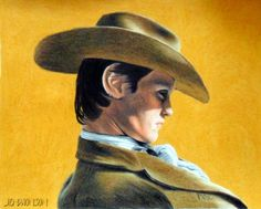 """""""I Wear a Stetson Now"""" colored pencil 8""""x10"""". Done first, then I added the background in, as you see in the other drawing. By Jen Monson"""