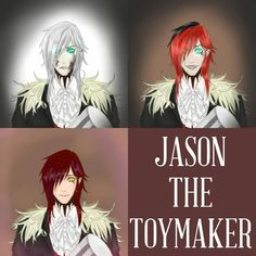 I made it with my artworks Jason the Toy maker by Krisantyl i want to cut my hands and throw them away. I am really poor at drawing. Jason the Toy Maker Jason The Toymaker, Jason Toys, Merida And Hiccup, Creepypasta Slenderman, The Nobodies, Creepy Pasta Family, Creeped Out, Jeff The Killer, Anime Scenery