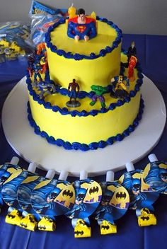 diy marvel cakes | My son Ayden's 5th Birthday Cake! Marvel Super Heroes!