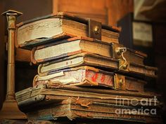 East Urban Home 'Old Books' Graphic Art Print on Wrapped Canvas Stack Of Books, Mini Books, High School Art, Old Books, Altered Books, So Little Time, Dungeons And Dragons, Canvas Size, Nature Scenes