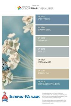 paint colors 37 Ideas bath room blue accents beach houses for 2019 Interior Paint Colors, Paint Colors For Home, Interior Design, Interior Ideas, Blue Paint Colors, Coastal Paint Colors, Coastal Color Palettes, Modern Paint Colors, Purple Color Palettes