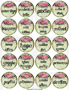 WHiMSiCaL digital collage sheet 2 inch by LandofEnchantment, $4.29
