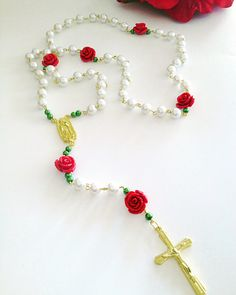 RedRose Rosary. by Beautifyyou on Etsy