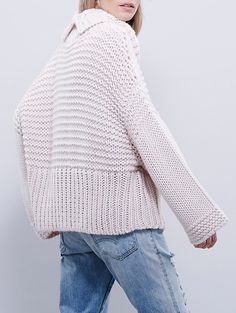 Turtleneck Oversized Pink Sweater Mobile Site