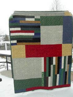 Lala's Lovelys Quilting: 2011 - Back of Brown Bag Quilt ... I need to do this - more exciting on the back!