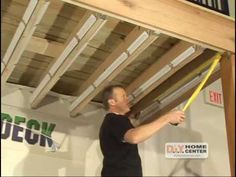 Building a inexpensive ceiling under my existing 2nd story deck. - YouTube