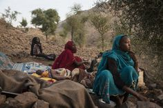 Internally displace woman who fled an attack on Golo wake up on the side of a mountain in Kone, Central Darfur, Sudan, March Al Jazeera, The New Yorker, Photojournalism, Mountains, Woman, March, Sleep, Women, Reportage Photography