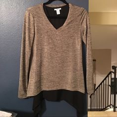 Bar III. Gold top with sheer black underlay. Small Bar III. Gold top with sheer black underlay. Size small. Never worn. Purchased from Macy's. Bar III Tops Blouses
