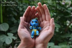 My fondant Baby Krishna Fondant Rose, Fondant Baby, Baby Krishna, Radha Krishna Wallpaper, Cake Creations, Cake Art, Clay, Turquoise, Cakes