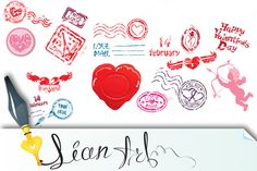 love mail design elements by Lian-art on Creative Market