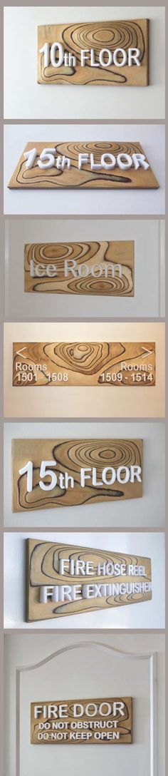 #Wayfinding #Signs for the Marriott Resort Hotel Surfers Paradise.   A selection from the over 300 individual wayfinding signs throughout the resort. Designed and #Digitally Fabricated by Surfacegroup.com.au