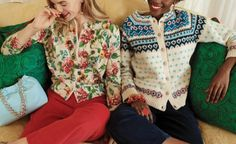 Andy Spade, Embroidery Shop, Jeweled Sandals, Swing Coats, Fall Looks, What To Wear, Floral Tops, Hand Weaving, Vintage Fashion