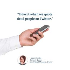 It means less work for Leann when we don't have to tag an author on Twitter while scheduling social media! This Is Us Quotes, When Us, Project Management, Online Marketing, Author, Social Media, My Love, Twitter, Writers
