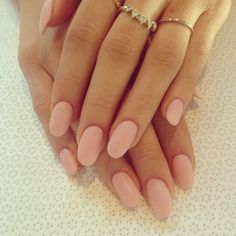 pale pink round nails