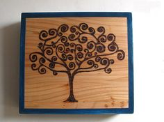 Tree of life wall hangingpyrography by Earthworkinteriors on Etsy