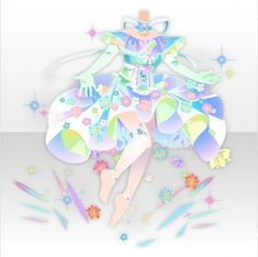 Shiny Waving Flower Hologram Style ver.A blue Manga Clothes, Drawing Clothes, Character Costumes, Character Outfits, Anime Outfits, Cute Outfits, Bubbles Wallpaper, Anime Uniform, Creative Background