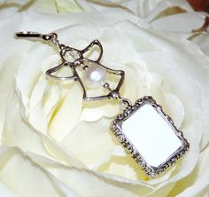Angel Wedding bouquet photo charm with 1 or 2 by SmilingBlueDog