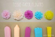 Tissue Paper Flower Variations お花紙でつくるフラワーバリエーション♪