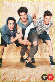 """""""Michael Trevino, Steven R. McQueen, and Zach Roerig show off looks from T by Alexander Wang for the latest March 2011 issue of GQ Magazine."""""""