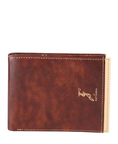 Gattinoni  - collezione uomo - portafoglio in pelle con logo. - portacarte di credito e portadocumenti - due scomparti p - Portafoglio uomo Marrone