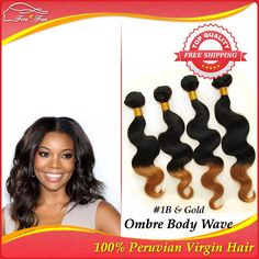 Ombre Peruvian Virgin hair body wave 12-30inch 5pcs Unprocessed Human hair weave Two tone color premium Beauty hair extensions $138.75 - 315.75