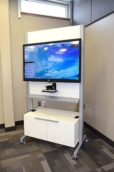 Dewey connection cart from izzy+. Iron Furniture, Furniture Design, Office Dividers, Tv Cart, Tv Unit Design, Game Room Design, Gamer Room, Decoration, Living Room Designs