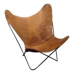 Jorge Ferrari-Hardoy for Knoll Butterfly Chair - Image 1 of 7 Glider Chair, Swivel Chair, Farmers Furniture, Party Chairs, Comfortable Accent Chairs, Throne Chair, Chair Pictures, Office Chair Without Wheels, Leather Dining Room Chairs