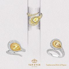 The ring Twelve-wired Bird of Papua from Van Eyck Jewelry