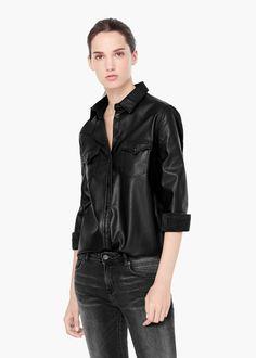 Camisa bolsillos -  Mujer   MANGO